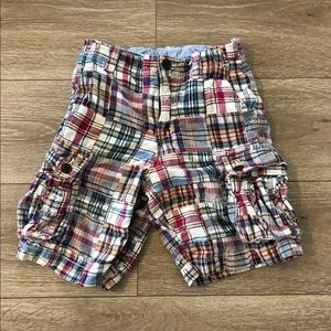 Gap madras plaid cargo shorts 8